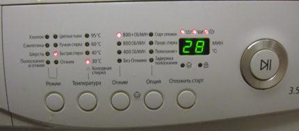 Индикаторы стиральной машины Самсунг